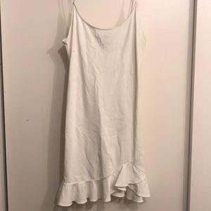 Basic white bodycon dress